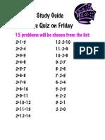 Math Study Guide 2's