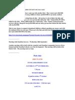 Charities - Meetings - Socials