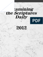 Examining the Scriptures Daily 2012