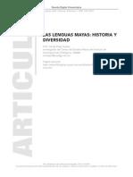 Lenguas Mayas Historia y Divers Id Ad UNAM