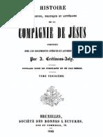 Histoire Religieuse Politique Et Litter a Ire de La Compagnie de Jesus (Tome 3)