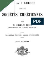 De La Richesse Dans Les Societes Chretiennes (Tome 2)