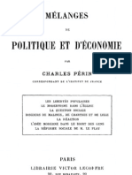 Melanges de Politique Et d Economie