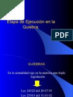 EJECUCION EN LA QUIEBRA