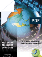 MTech Computational Techniques - Brochure