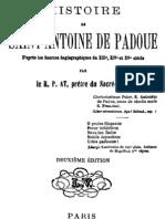Histoire de Saint Antoine de Padoue