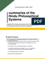 Summary of Hindu Philosophical Systems