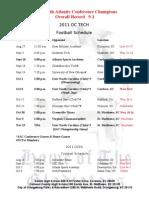 2011 Oc Tech Fb Schedule