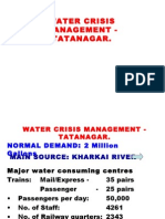 Water Crisis Management at Rly Complex