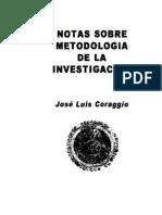 01. Notas sobre metodología de la investigación.  José L. Coraggio