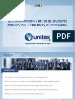 Descontaminación y Reuso de Efluentes Mineros por Tecnologia