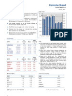 Derivatives Report 10th October 2011