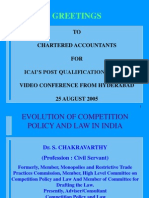 8830 Evolution of Competition Policy and Law in India