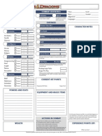 D&D 4th Ed Essentials Character Sheet