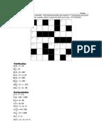crucigrama algebraico