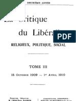 La Critique du Libéralisme (Tome 3)