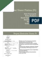 Ekstraksi Unsur Platina (Pt)