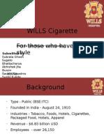WILLS Cigarette