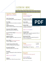 Pizzelle's Bistro Catering Menu