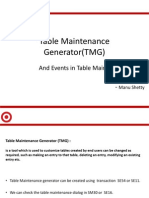 Table Maintenance TMG and Events in TM