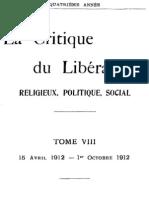 La Critique du Libéralisme (Tome 8)