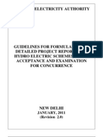 Detailed Project Reports for Hydro Electric Schemes,