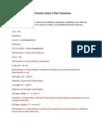 446 Practice Exam Solutions Part I