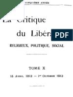 La Critique du Libéralisme (Tome 10)