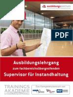Ausbildungslehrgang zum Supervisor für Instandhaltung