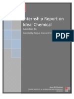 Internship Report Final on Ideal Chemical