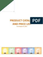 PHNI Product Catalog and Price List 100111