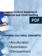 Socio-Cultural Aspects of Maternal and Child Nursing