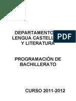 Programación Bachillerato 2011-2012