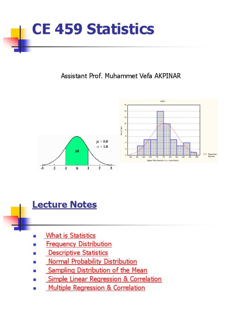 Statistics Mean Standard Deviation