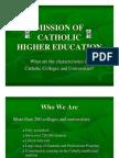 Mission of catholic higher education