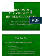 Mission of catholic higher education