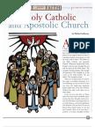 One holy catholic and apostolic church