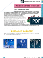 E-newsletter 4CE Issue 5 August
