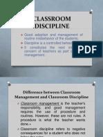 Classroom Discipline