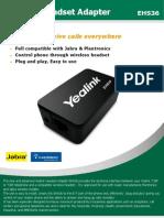 Yealink Wireless Headset Adaptor