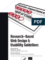 Research Based Web Design and Usability