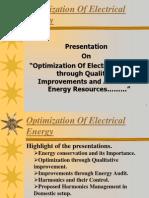 Optimization of Energy