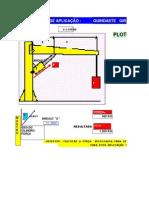 Planilha de Construção de Guindaste - hidráulico simples