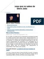 10 Cosas Que No Se Conocian de Steve Jobs