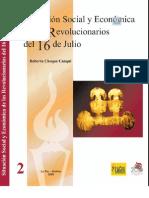 Situación social y económica de los Revolucionarios del 16 de julio de 1809