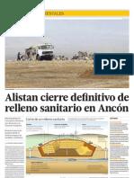Alistan cierre definitivo de relleno sanitario en Ancón