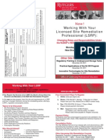 Working with Your Licensed Site Remediation Professional –December 5, 2011