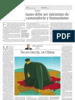 No Es Grecia, Es China