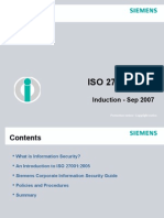 ISO 27001 -2005-Induction Sep07