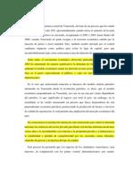 La situación económica actual de Venezuela